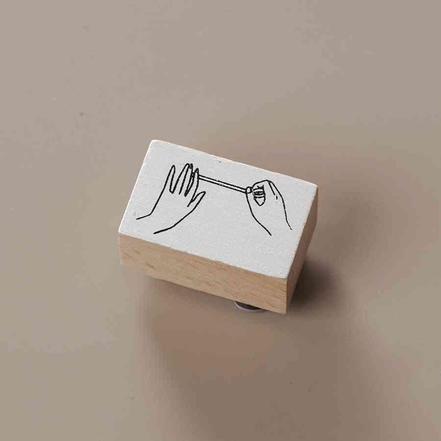 Sketch Wooden Rubber Stamps