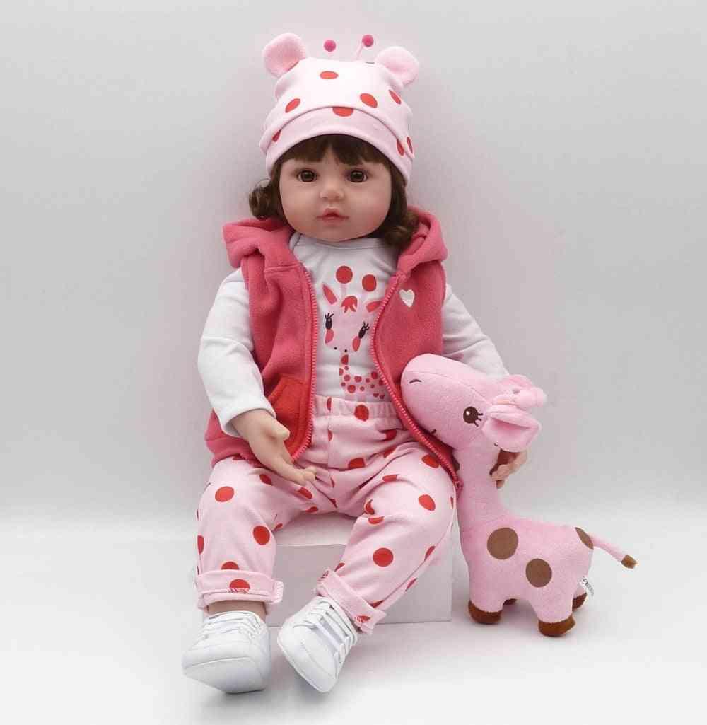Toddler Soft Silicone Reborn Baby Dolls, Soft Body Lifelike Menina, Christmas Surprice Girl