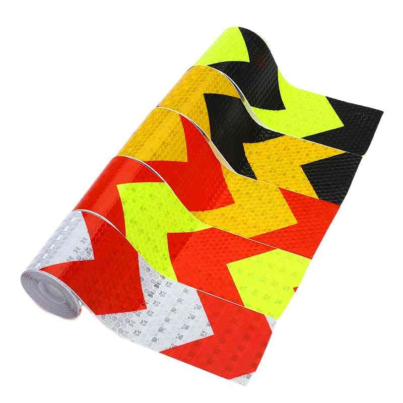 Self Adhesive Warning Tape Arrow Safety Reflective Stickers For Car-styling Automobiles Motorcycle