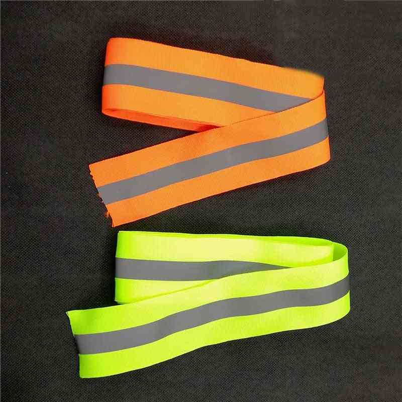 Luminous Stripe Ribbon Reflective Webbing Piping Taps Fabric Safety Clothing Sewing Accessories