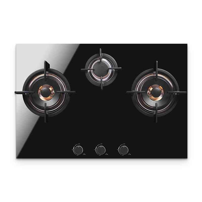 3 Hole Multi-head Natural Gas Embedded Desktop Stove