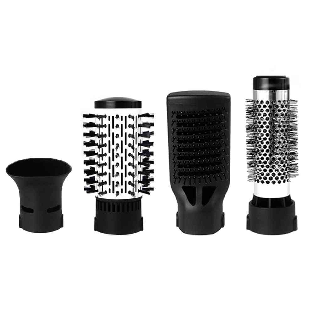 4 Head Replaceable Electric Hair Dryer Brush One Step Blower Comb Straightener