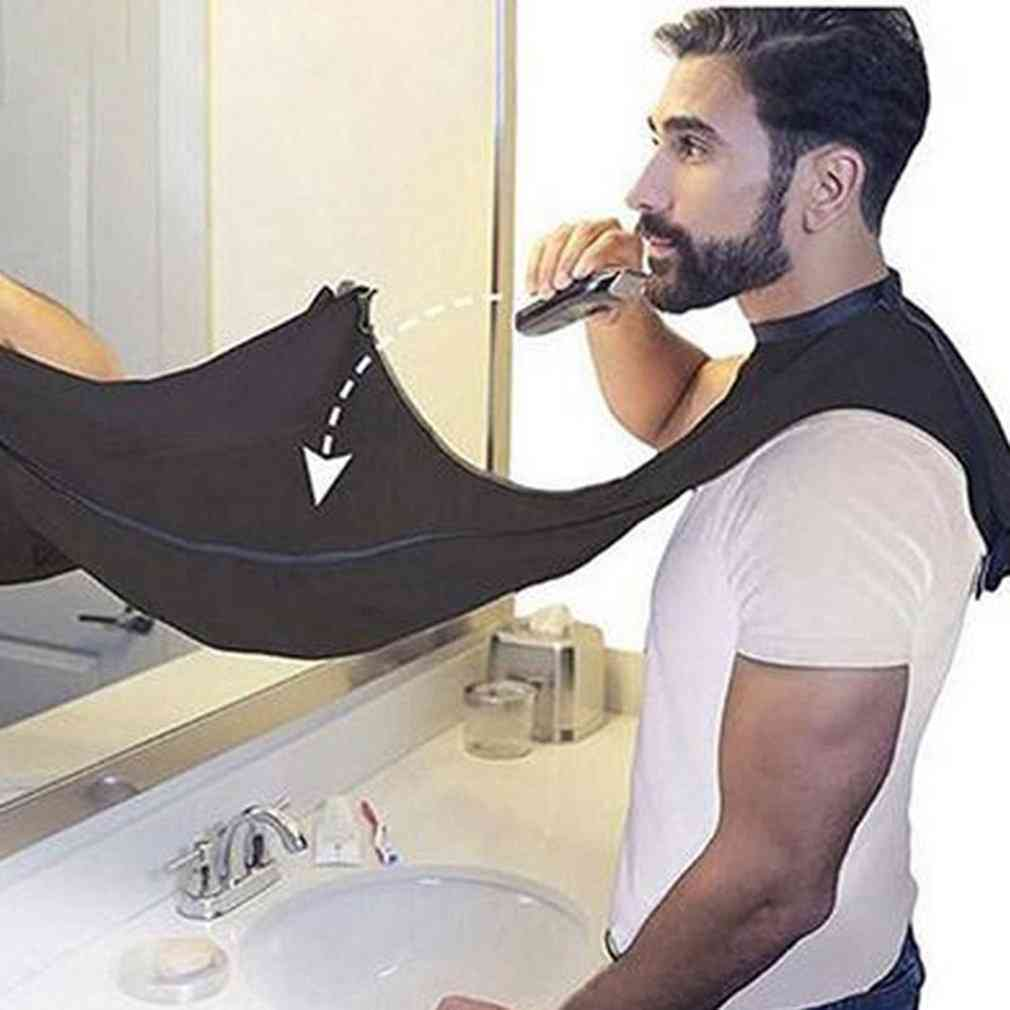 Beard Care Clean Shaving Apron Facial Hair Dye Trimmings Catcher Cape With Suction Cup