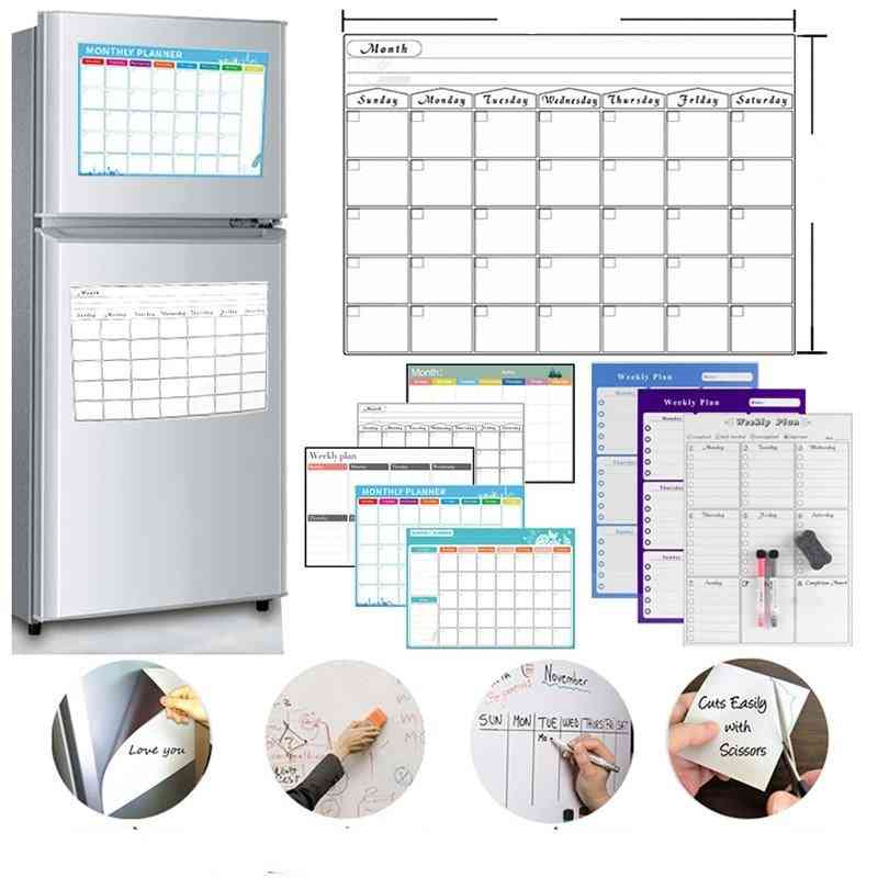 Magnetic Table- Dry Erase, Whiteboard Schedules, Fridge Sticker Message Board