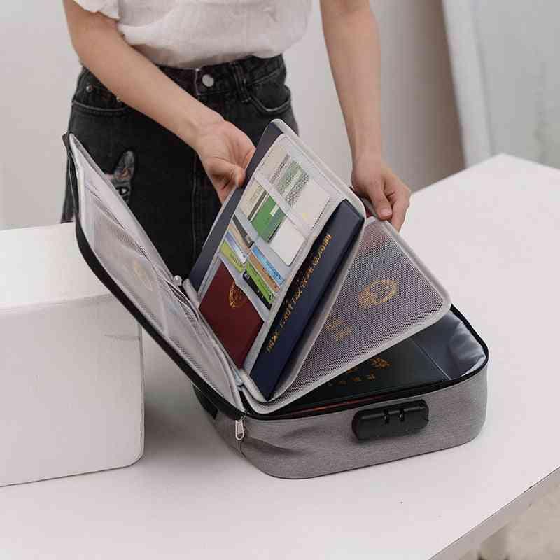 Document Bag Large Capacity Travel Passport Wallet Card Organizer Men's Business Waterproof Storage Pack