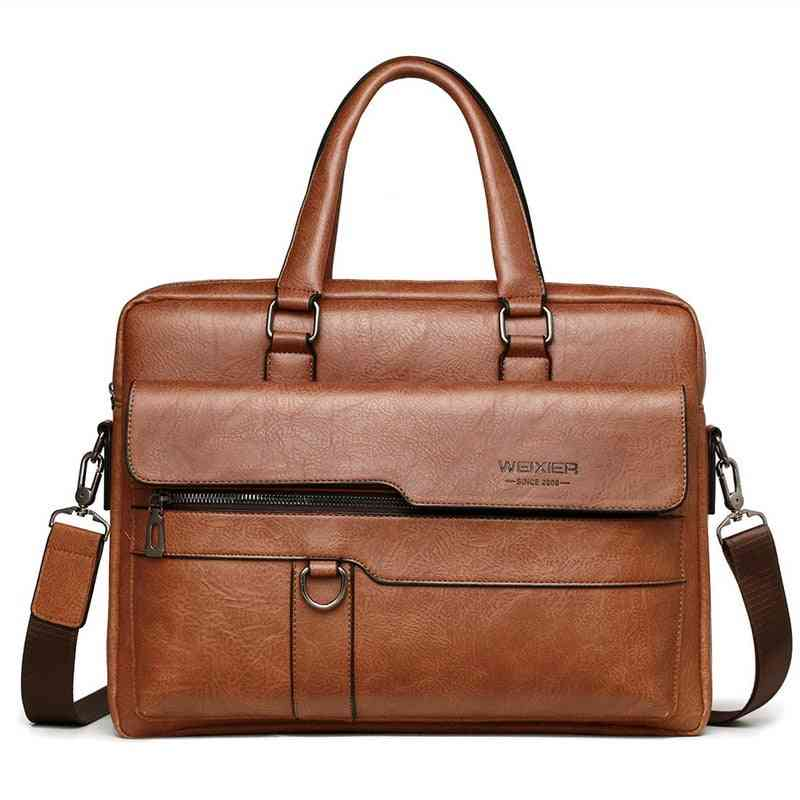 Leather Black Business Briefcase