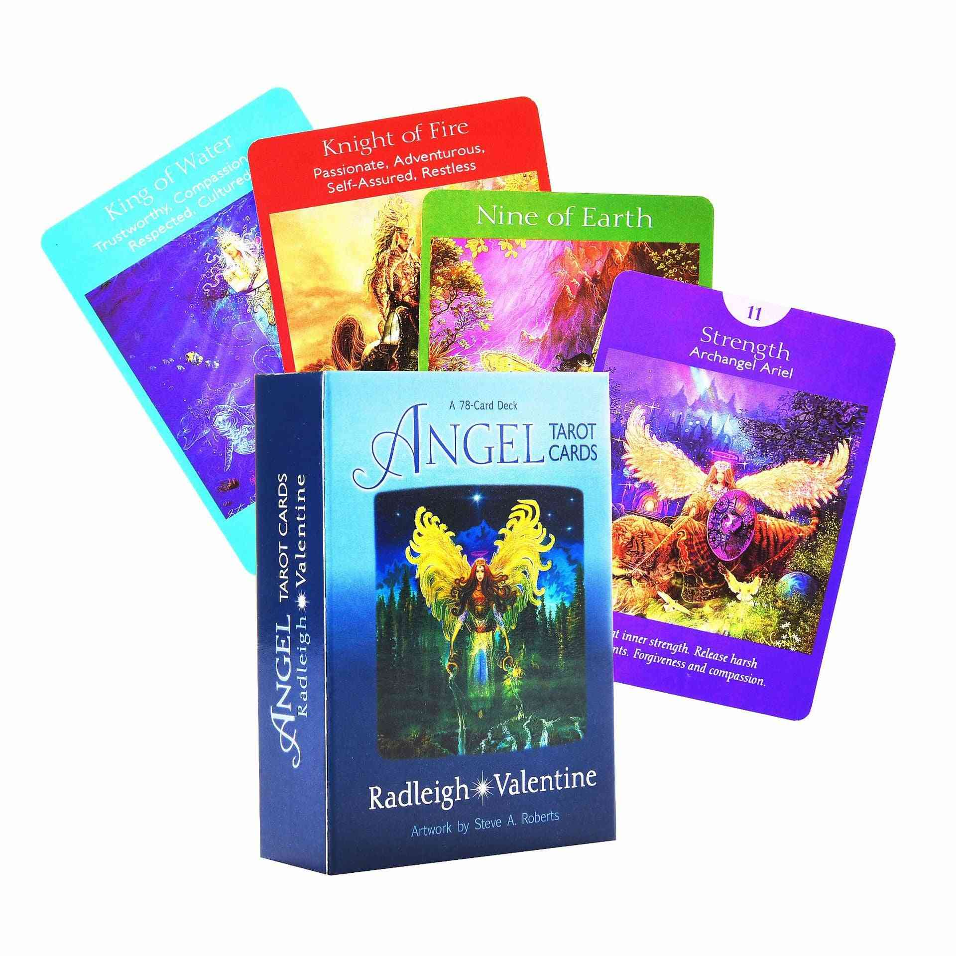Angel Tarot Cards Deck And Guidebook Oracle Game