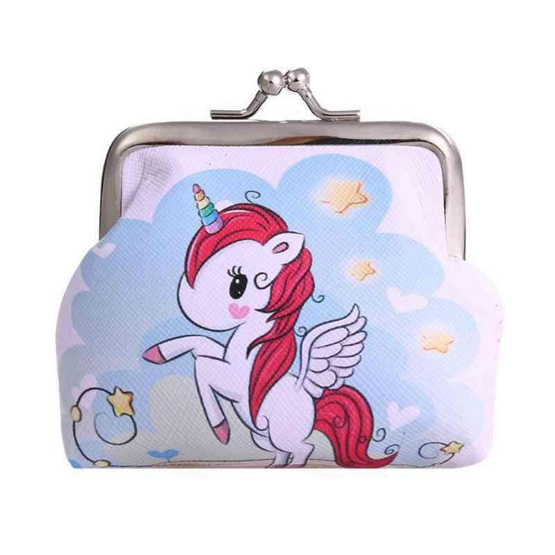 Mini Unicorn Wallet Card Holder Case Coin Purse, Clutch Change Bag
