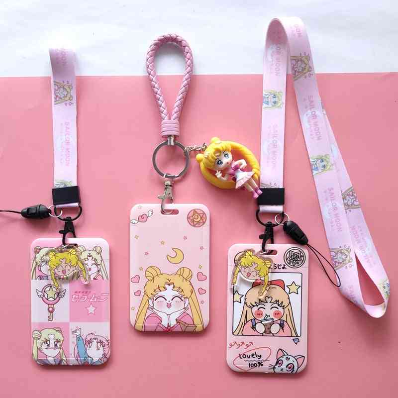 Girls Id Credit Bank Card Holder Students Bus Clear Card Case/male Visit Door Identity Badge Cards Cover