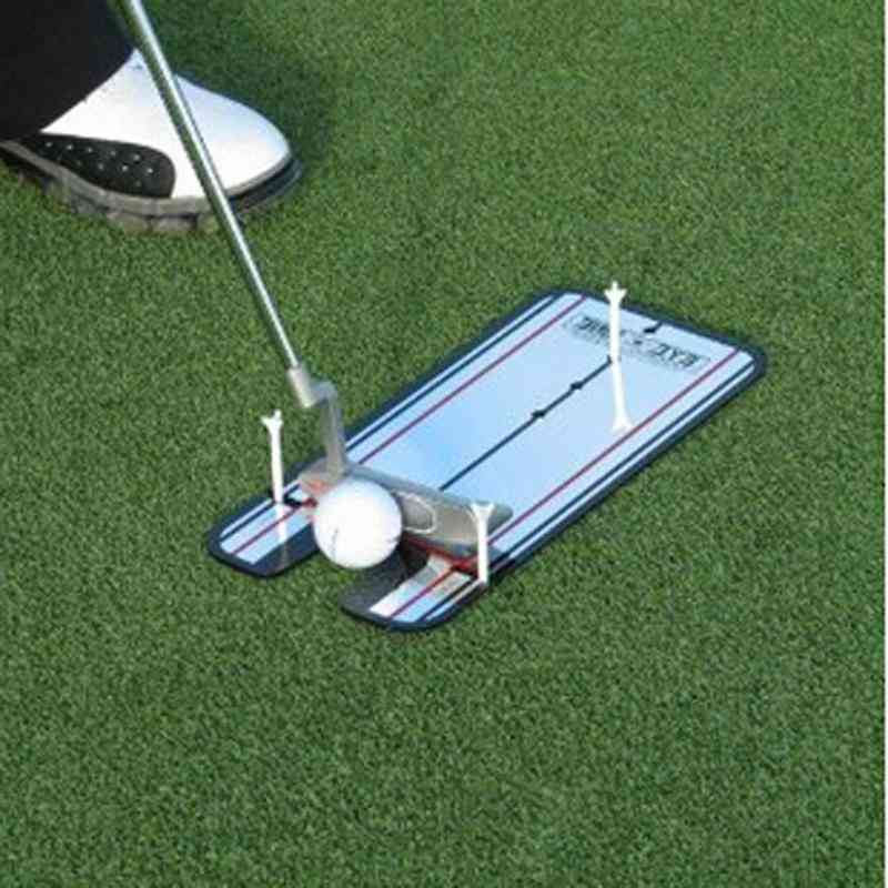 Portable Practice Golf Mirror Alignment Training Aid, Swing Trainer, Eye Line Accessories