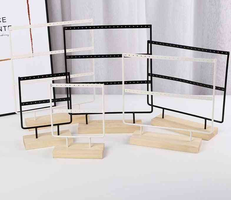 Wooden Base, Metal Ear Studs, Pendant, Jewelry Rack, Display Stand Holder