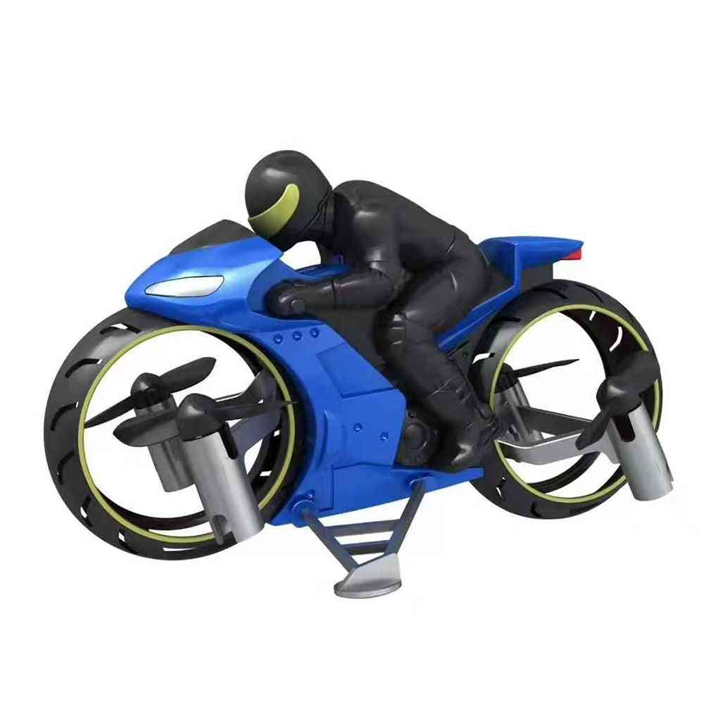 Rc Motorcycle, Rechargeable, Stunt Flip Toy With Cool Led Light