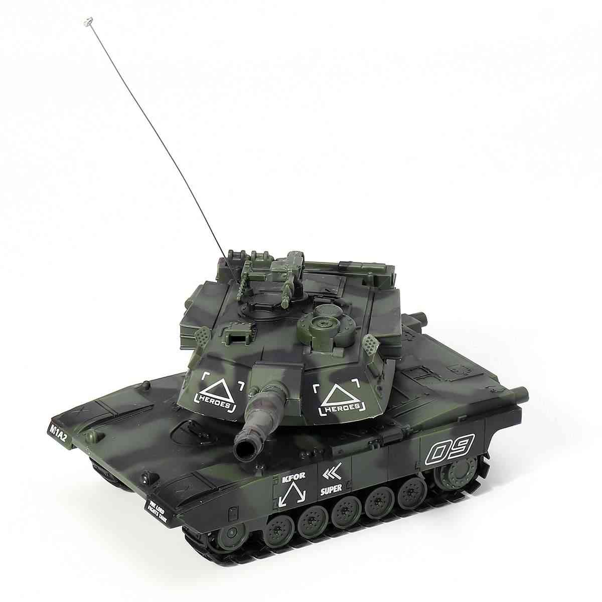 Tactical War Tank Vehicle With Remote Control, Shoot Bullets Toy For