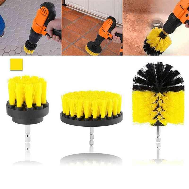 Drill Power Scrub Clean Brush For Leather Plastic Wooden Furniture Car Interiors Scrub
