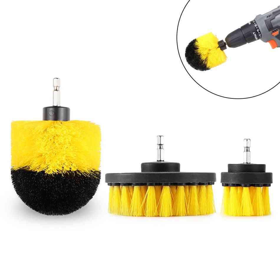 Drill Power Scrub Clean Brush For Leather Plastic Wooden Furniture Car Interior