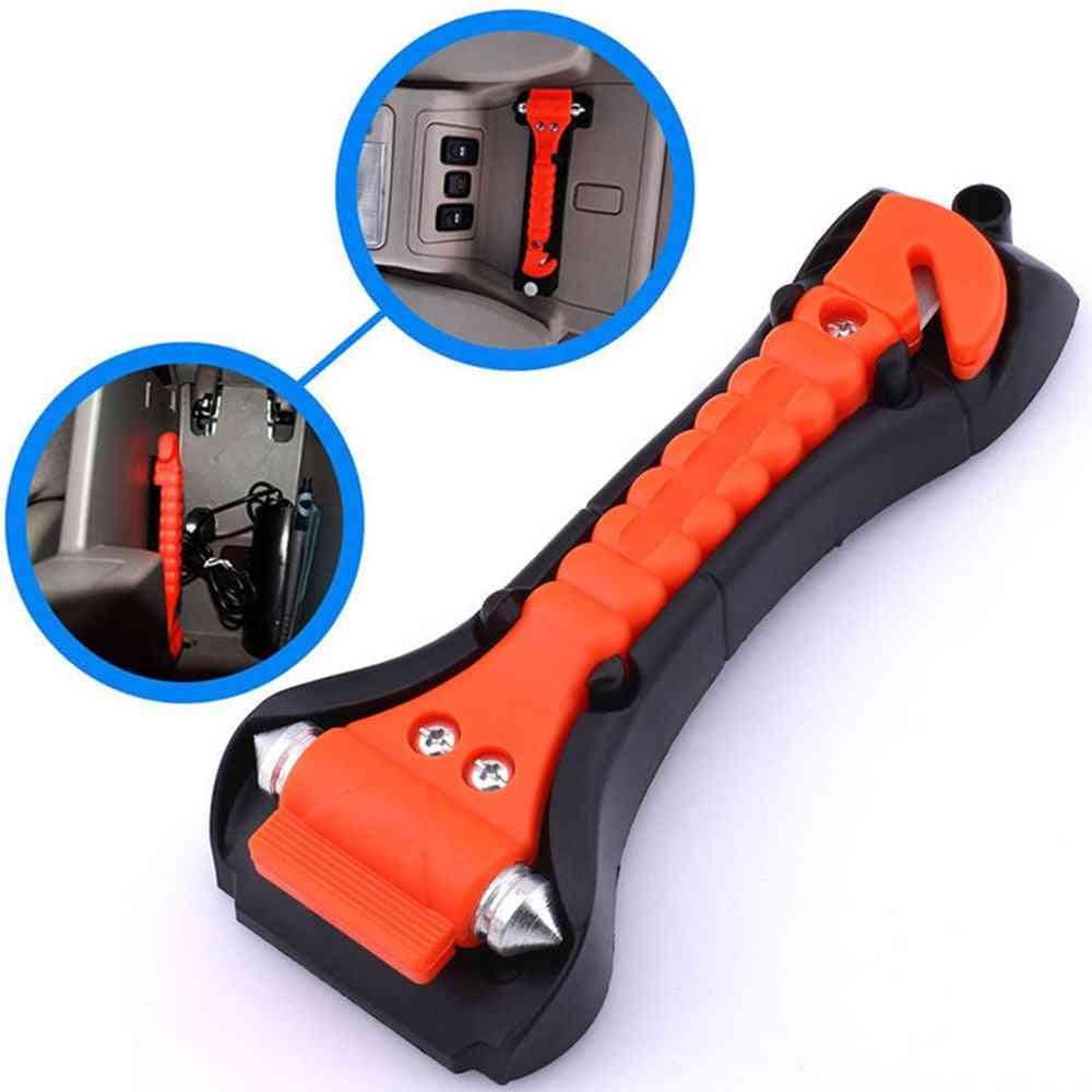 2in1 Mini Car Safety Hammer, Life Saving - Emergency Seat Belts, Glass Breaker
