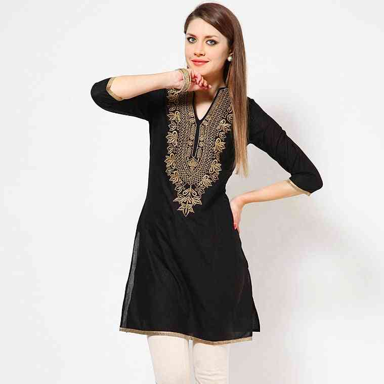 Indian Dress For Women, Ethnic Blouses Embroidery Clothing W