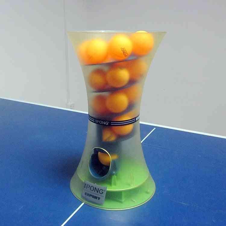 Mini Portable Automatic Table Tennis Ball Machine Multi-turn Point Drop Baller