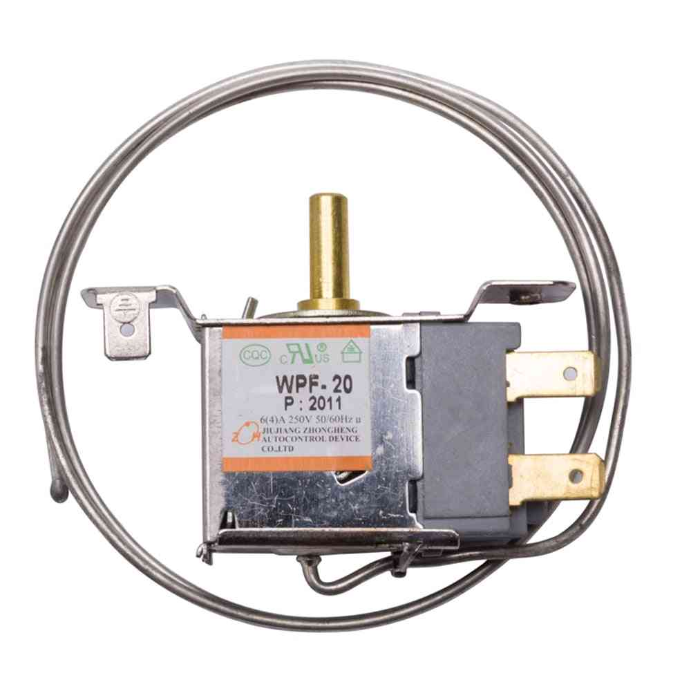 2 Pins Universal Refrigerator Thermostat 2 Feet 68mm Mechanical Temperature Control Switch