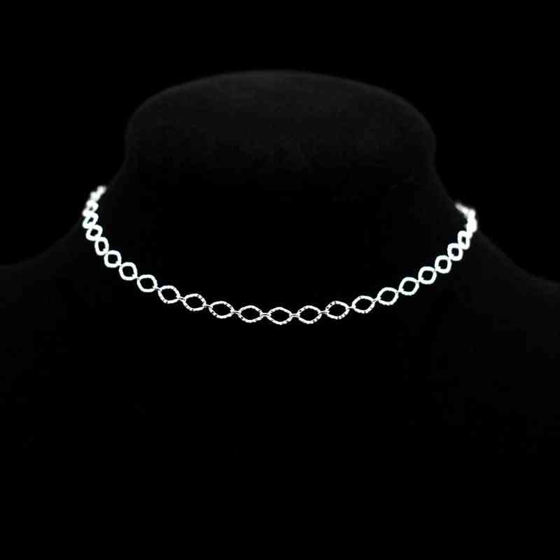 Sterling Silver Simple Chain Anklets Jewelry