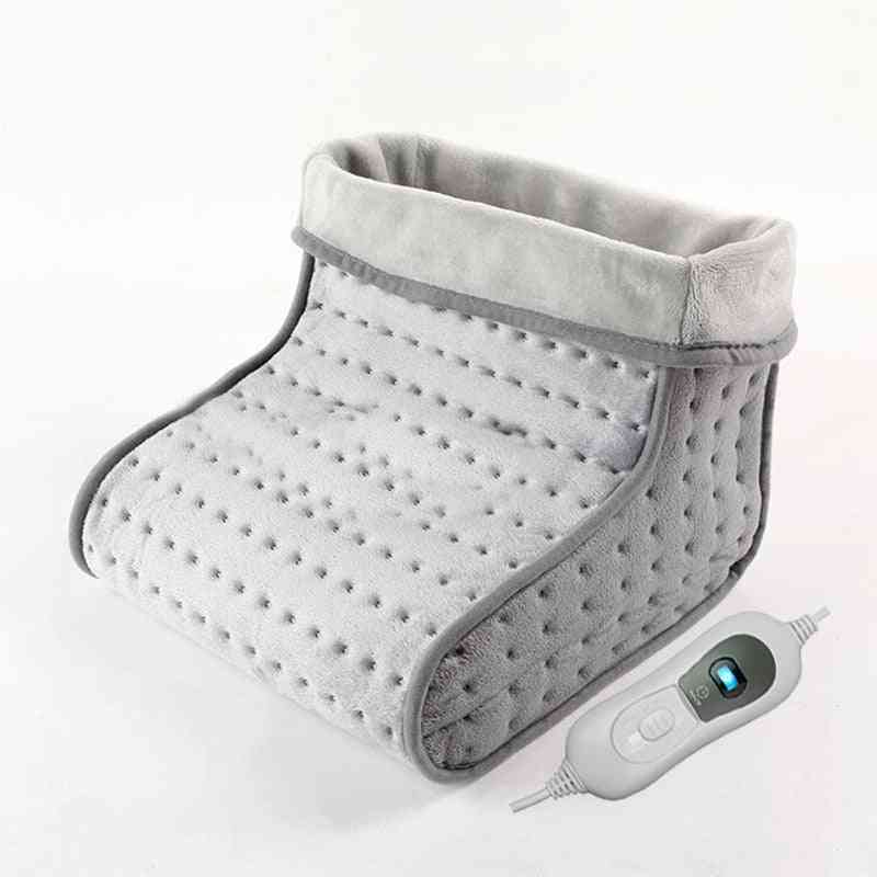 Portable Soft Synthetic Wool Liner And Microplush Cover, Washable, Electric Foot Warmer Heated Booties