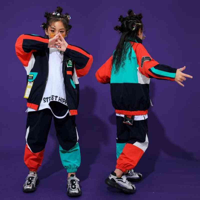 Kid Fashion Cool Hip Hop Clothing  Top Pullover Pocket Running Casual Pants