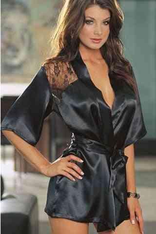 Lingerie Robe Dress, Women Erotic Underwear Nightwear