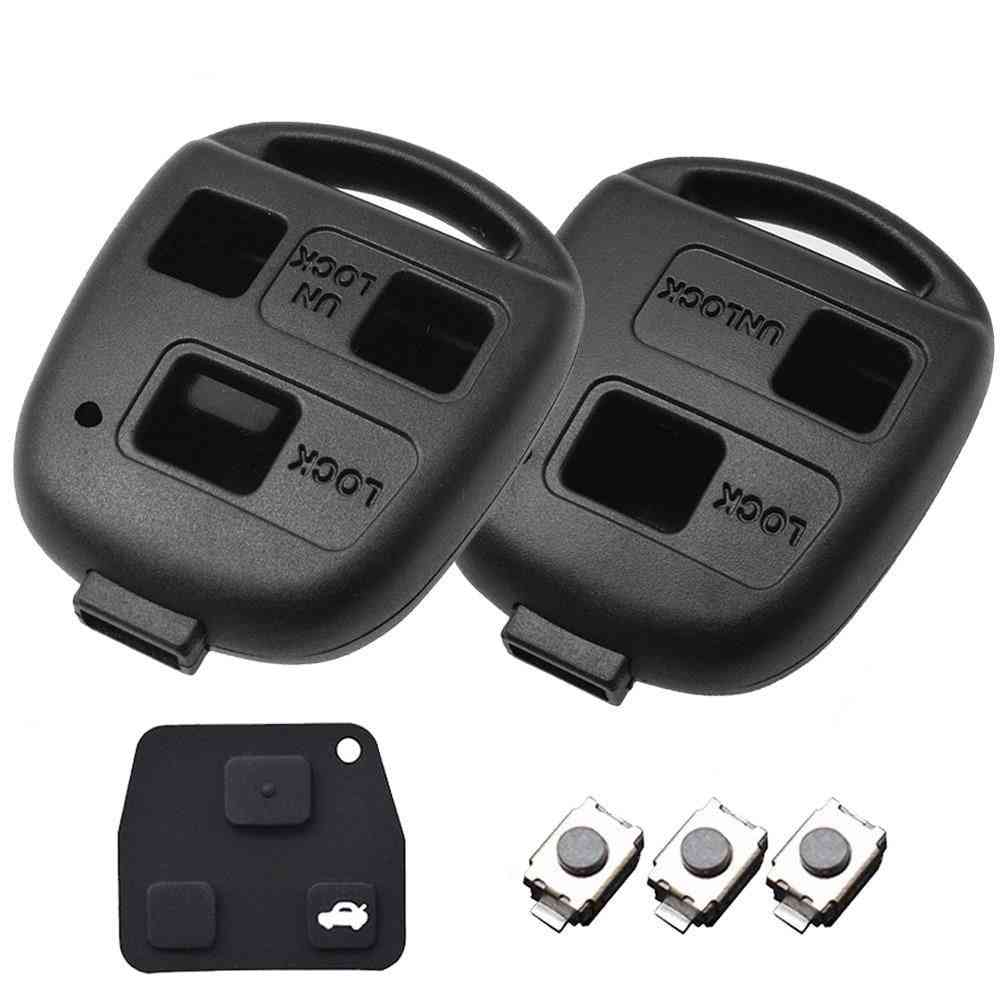 2/ 3 Button Pad Switch, Remote Car Key Shell Case