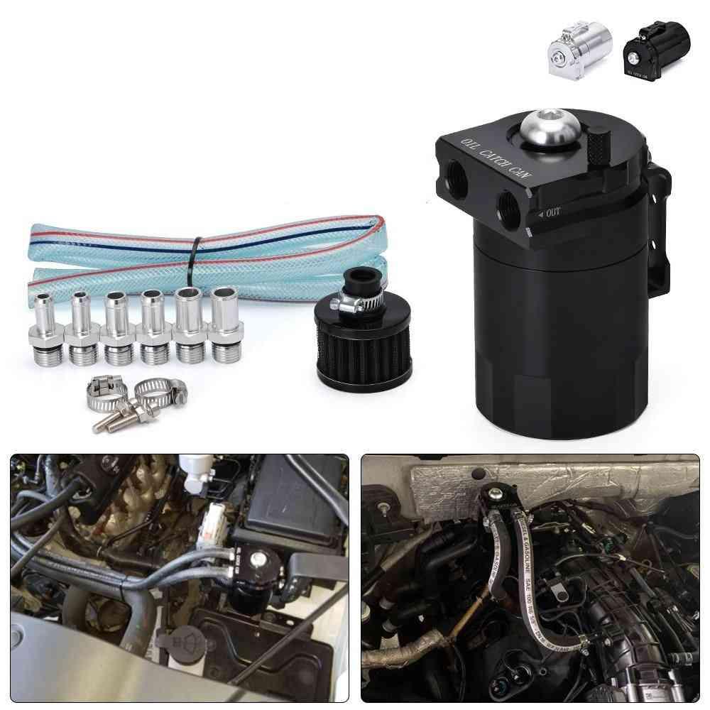 Jr-tk64 Baffled Aluminum, Catch Can Reservoir, Oil Tank With Filter