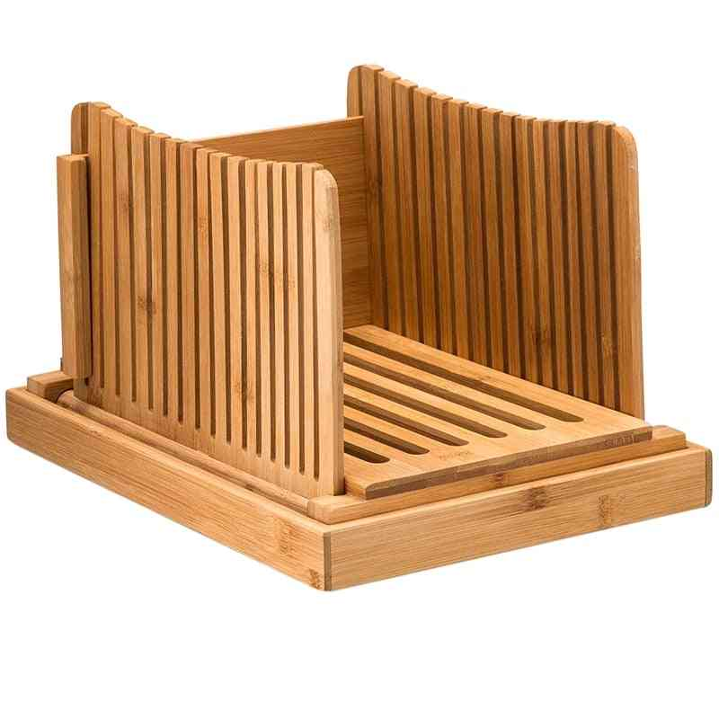 Bamboo Bread Slicer Cutting Guide Wood Bread Cutter For Homemade Breads & Loaf Cakes