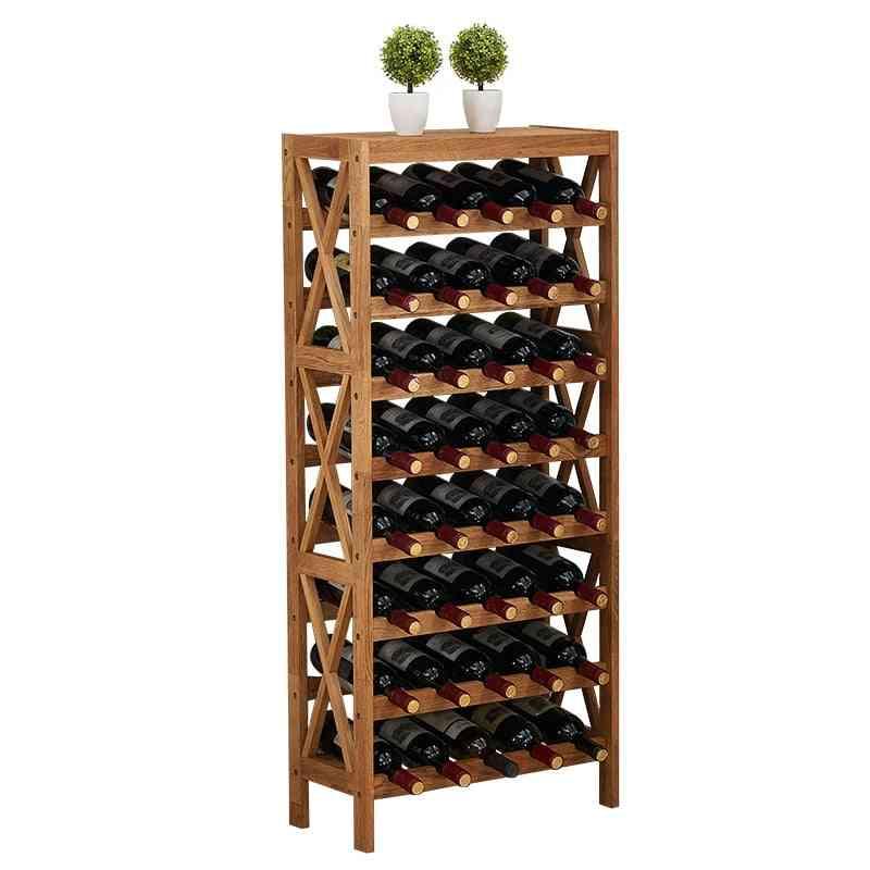 Modern Cabinet Display Shelf Bar Globe Wooden Wine Rack