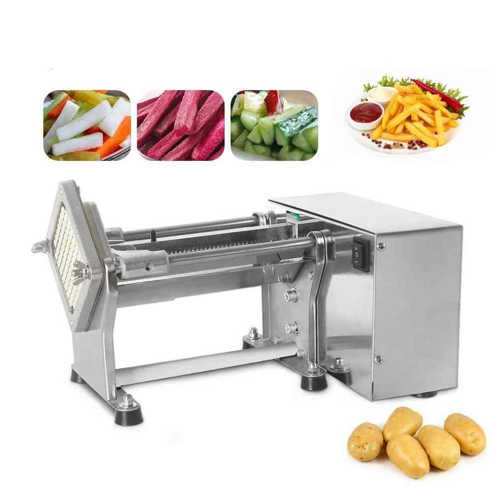 Sähköinen ranskanperunoiden leikkuri perunalastun porkkanaleikkurin viipale ruostumattomasta teräksestä valmistettu kone