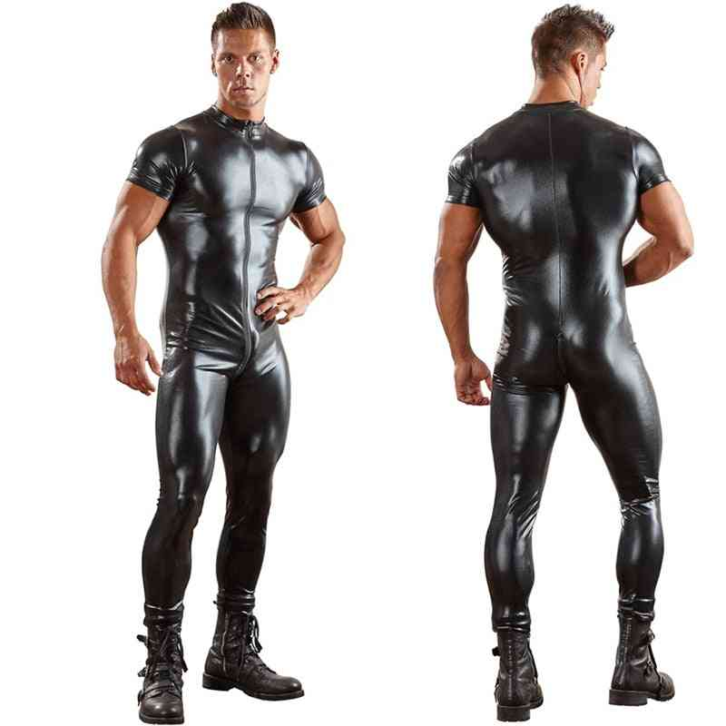 Pu Leather Catsuit, Tight Skin Full Bodysuit / Jumpsuit