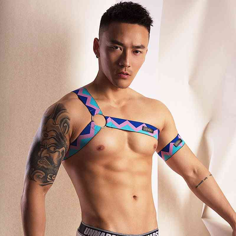 Men Chest Shoulder Elastic Belt Harness