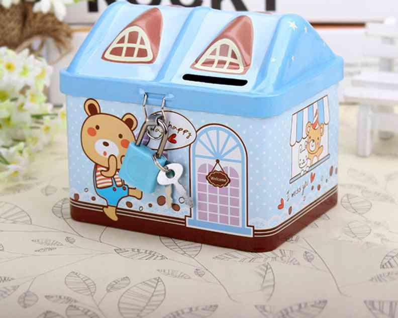 Cartoon House Piggy Bank