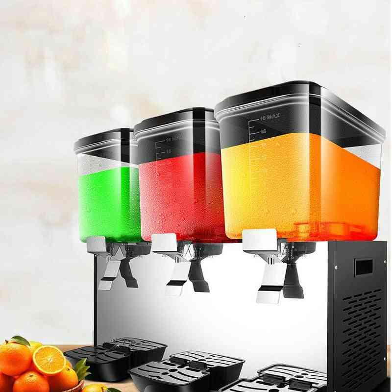 Cold Beverage Machine, Three Tank Commercial Automatic Juice Dispenser