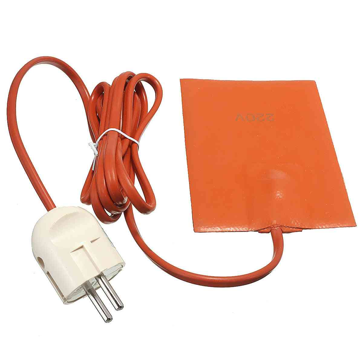 Car Engine, Oil Tank Heater, Silicone Heating Pad, Wear Protect With Eu Plug