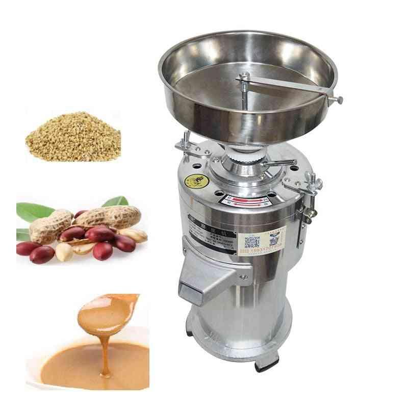 Commercial Sesame Peanut Grinding Miller, Pistachio Stuff Grinder Pulping Machine
