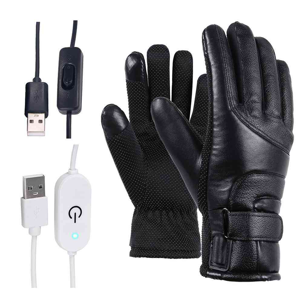 Winter Motorcycle Electric Heated Gloves