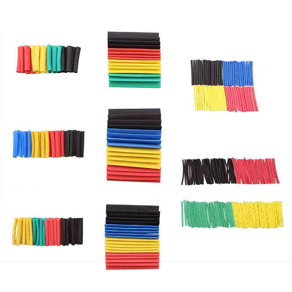 Shrinking Insulation Sleeving Thermal Casing Electrical Cable Tube Kits, Heat Shrink Tubing Wrap, Sleeve Assorted