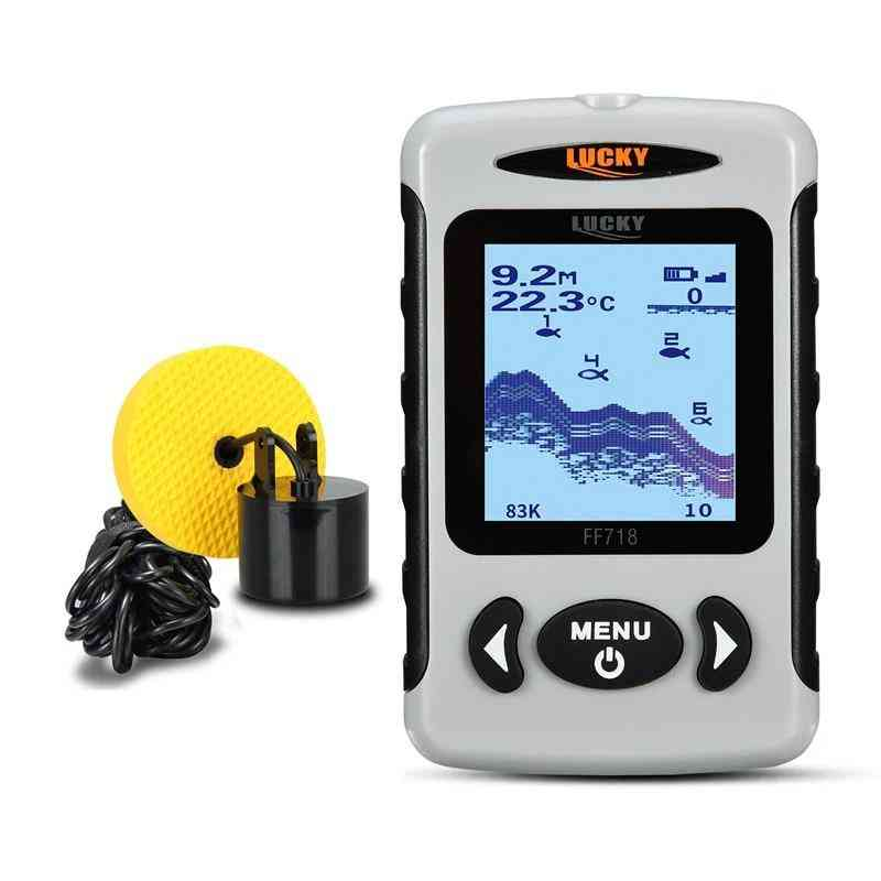 Lcd Portable, Dual Sonar Frequency 100m Depth Detection, Fish Finder