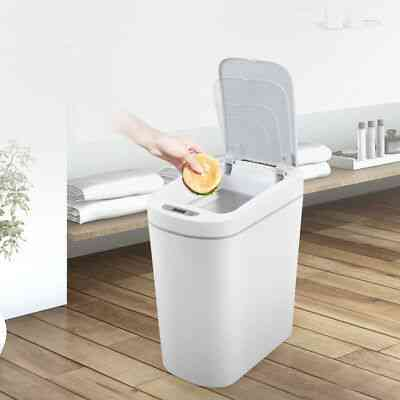 Smart Trash Can Motion Sensor Auto Sealing Led Induction Cover  (7l)