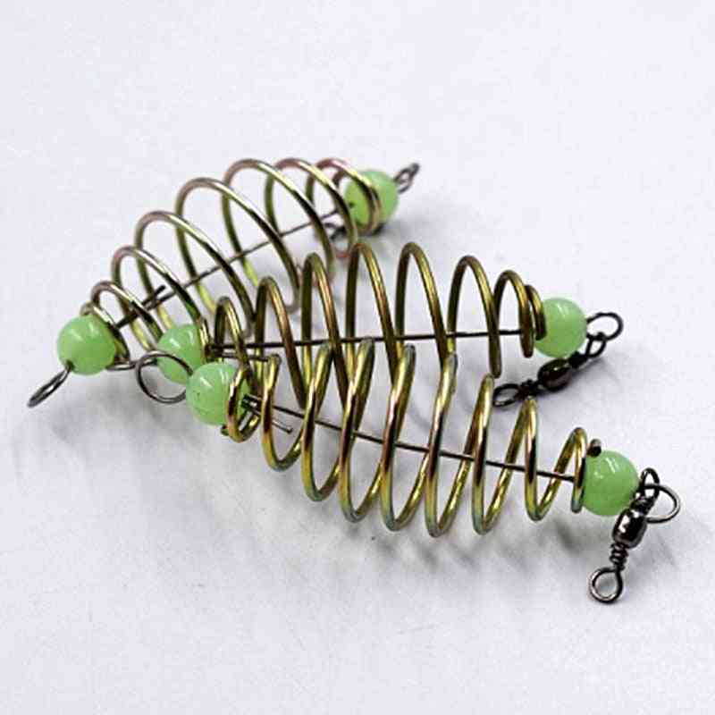 Lure Inline Hanging Tackle Stainless Steel Feeder Fishing Bait Spring