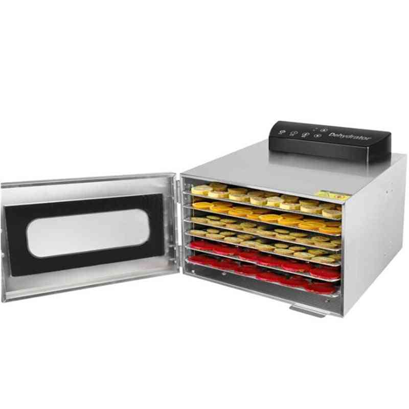 Fruit Drying Machine, Stainless Steel, Dehydrator, Home Electric Vegetable Meat Herbs Food Dryer