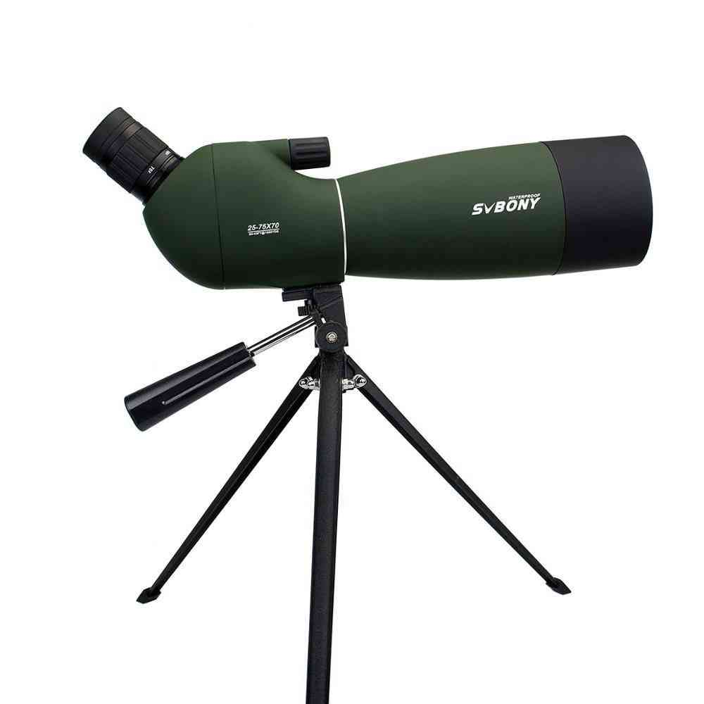 Scope Whti 25-75x Magnification And 70mm Objective Lens Binoculars+tripod