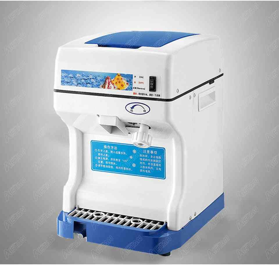 Electric Commercial Cube Ice Shaver, Crusher Machine