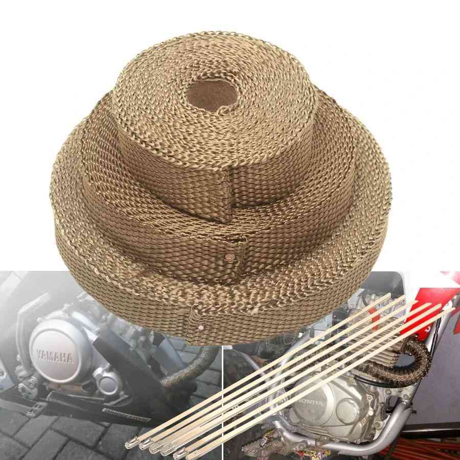 Car Thermal Turbo Heat Wrap Cloth Motorcycle Exhaust Tape