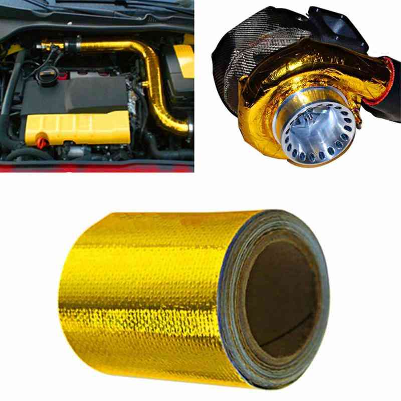 Exhaust Pipe Aluminum Foil High Temperature Wrap Tape Reflective Heat Shield