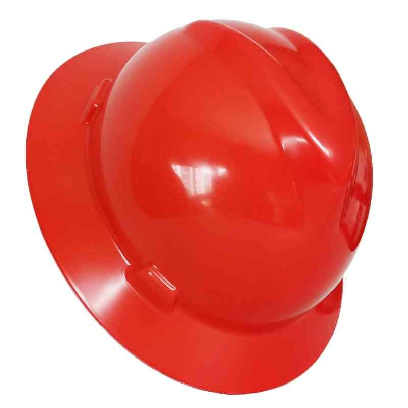 Safety Helmet Wide Full Brim Hard Hat, Work Cap, Metallurgy Mine Summer Sunshade