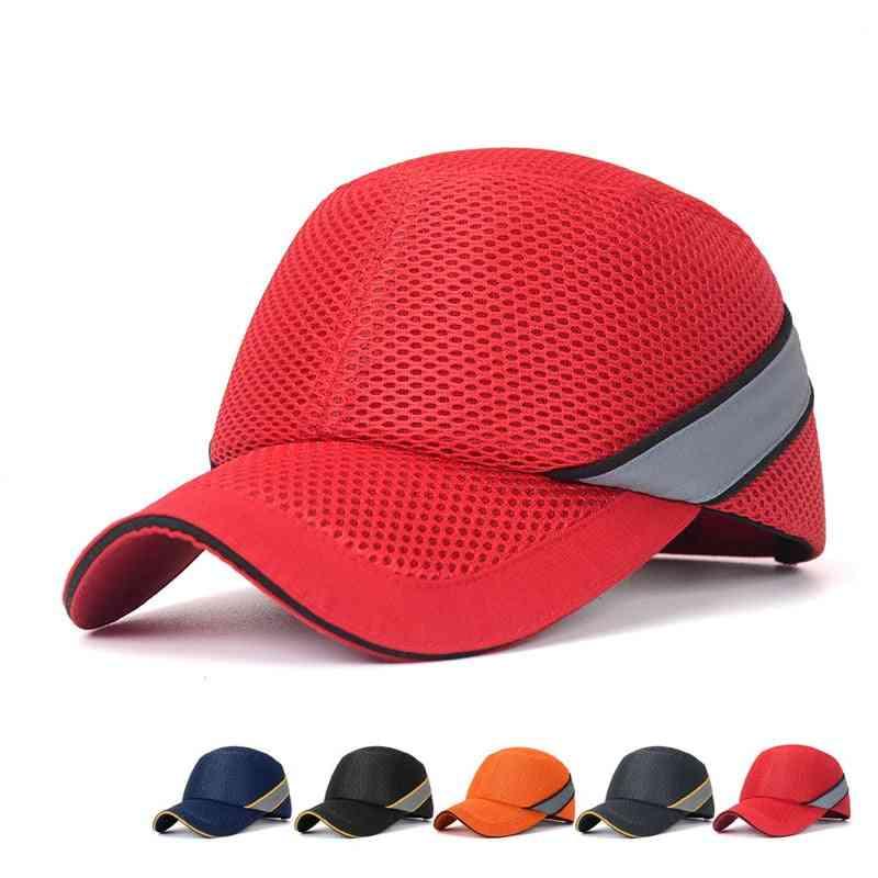 Work Safety Protective Helmet Bump Cap, Hard Inner Shell Baseball Hat Style